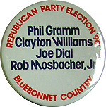 Phil Gramm - Clayton Williams - Joe Dial - Rob Mosbacher Jr. - 1990